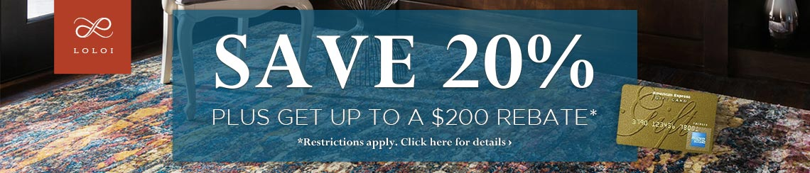 Loloi Rugs - Save 20% plus get up to a $200 rebate.