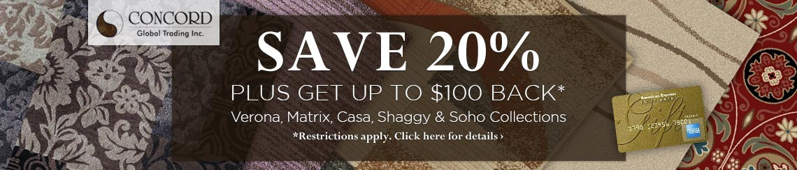 Concord Global - Save 20% plus get up to $100 back on selected collections.