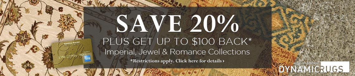 Dynamic Rugs - Save 20% plus get up to $100 back.