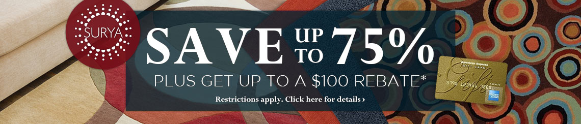 Surya - Save up to 75% and get up to $100 back.