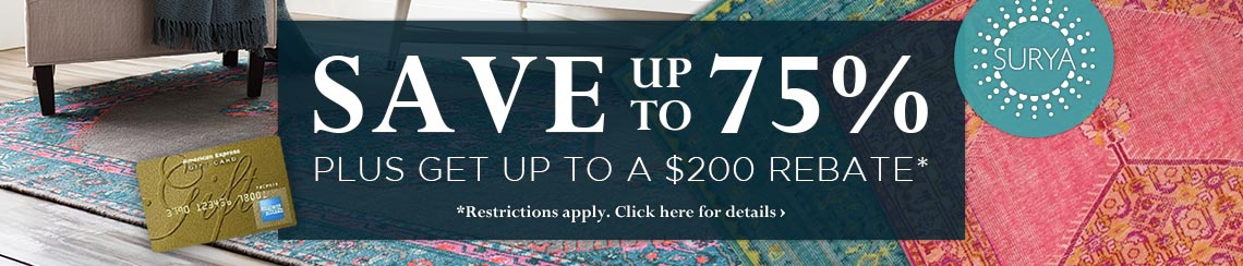 Surya - Save up to 75% plus get up to $200 back.
