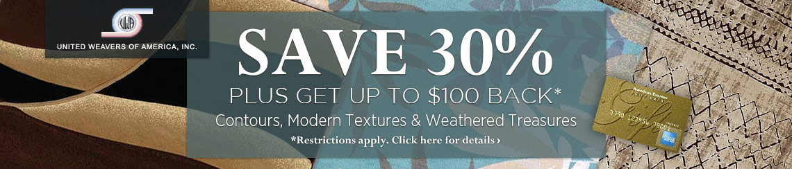United Weavers - Save 30% plus get up to $100 back.