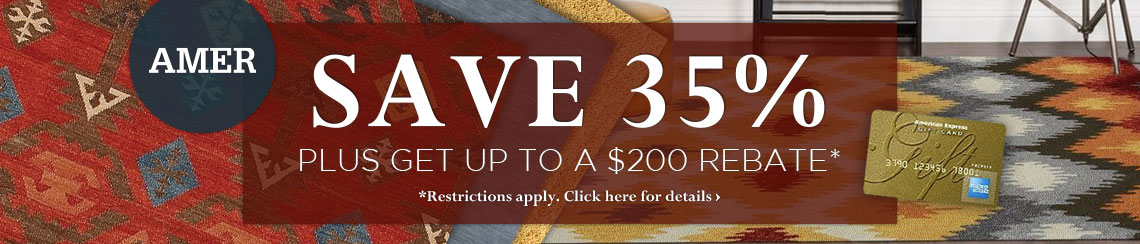 Amer Rugs - Save 35% plus get up to $200 back.