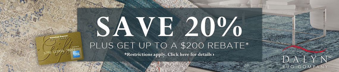 Dalyn Rugs - Save 20% plus get up to $200 back.