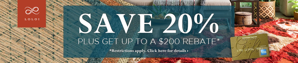 Loloi Rugs - Save 20% plus get up to $200 back.