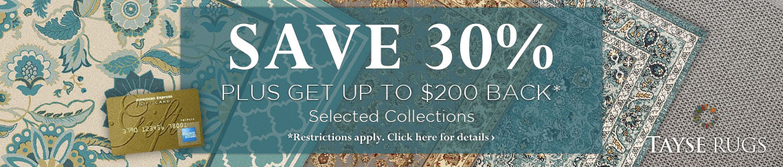 Tayse Rugs - Save 30% plus get up to $200 back.