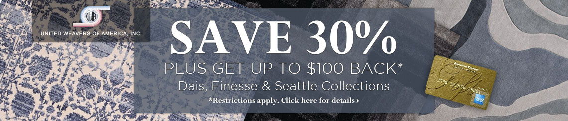 United Weavers of America - Save 30% plus get up to $100 back.