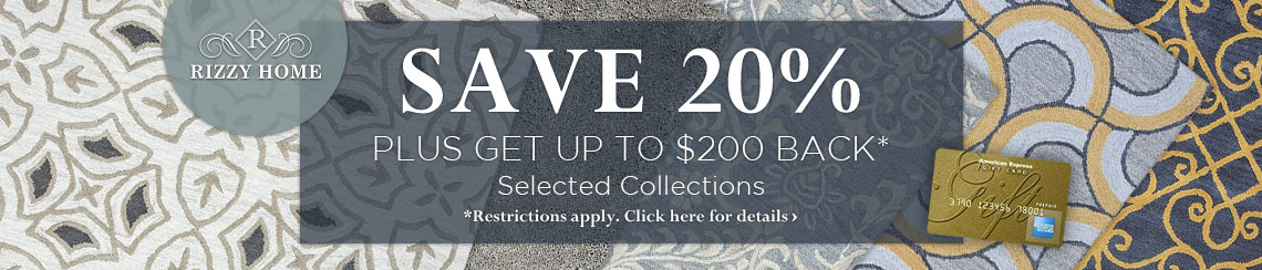 Rizzy Home - Save 20% plus get up to $200 back.