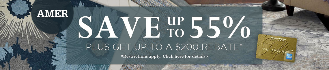 Amer Rugs - Save up to 55% and get up to $200 back.