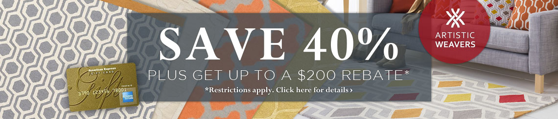 Artistic Weavers - Save 40% plus get up to $200 bakc.