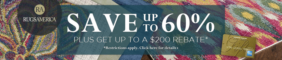 Rugs America - Save up to 60% plus get up to $200 back.