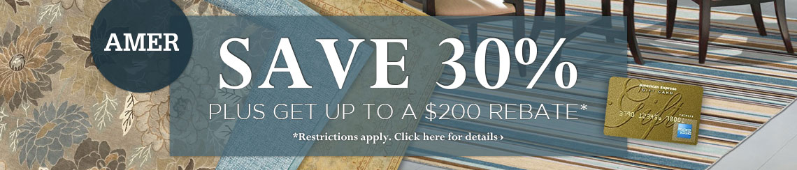 Amer Rugs - Save 30% plus get up to $200 back.