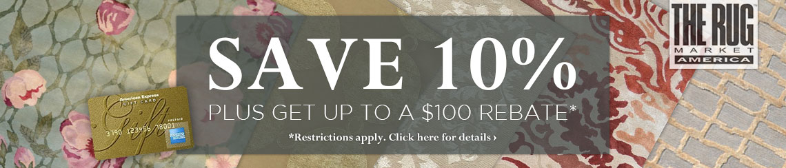 The Rug Market - Save 10% plus get up to $100 back.