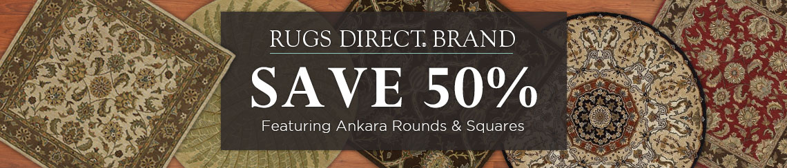Rugs Direct Ankara Squares and Rounds - Save 50%
