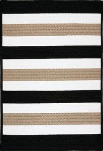 Sharp Black (PO-49) Portico Portico Striped Area Rugs