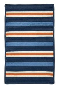 Set Sail Blue, Orange (PS-41) Painter Stripe Painter Stripe Striped Area Rugs