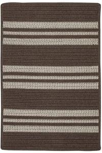 Mink (UH-09) Sunbrella - Southport Stripe Southport Stripe Striped Area Rugs