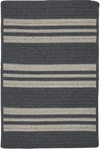 Granite (UH-49) Sunbrella - Southport Stripe Southport Stripe Striped Area Rugs