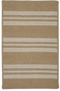 Wheat (UH-99) Sunbrella - Southport Stripe Southport Stripe Striped Area Rugs