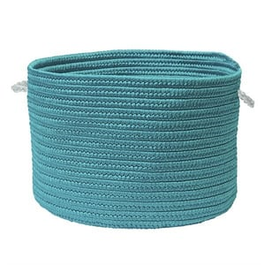 Aquamarine (CO-49) Colorful Braided Toy Baskets Toy Baskets Country Area Rugs