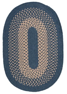 Federal Blue (JK-50) Jackson Braided Country Area Rugs