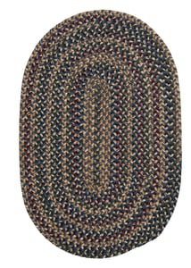 Federal Blue (TL-50) Twilight Braided Country Area Rugs