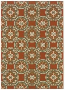 Copper, Ivory (8323D) Montego 8323 Contemporary / Modern Area Rugs