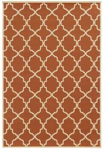 Orange, Ivory (D) Riviera 4770 Contemporary / Modern Area Rugs