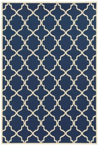 Navy, Ivory (L) Riviera 4770 Contemporary / Modern Area Rugs