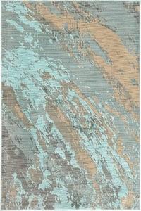 Blue, Grey (A) Sedona 6367 Abstract Area Rugs