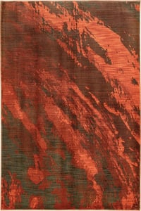 Red, Charcoal (B) Sedona 6367 Abstract Area Rugs