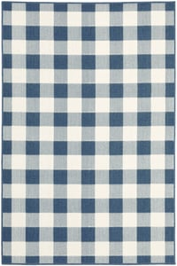 Blue, Ivory (V) Meridian 2598 Country Area Rugs