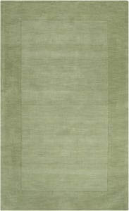 Grass Green, Dark Green (M-310) Mystique Border Contemporary / Modern Area Rugs