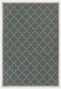 Grey, Ivory (L) Marina 6025 Contemporary / Modern Area Rugs