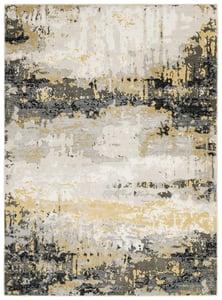 Beige, Gold (X) Caravan 2061 Abstract Area Rugs