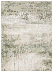 Beige, Green (W) Caravan 2061 Abstract Area Rugs