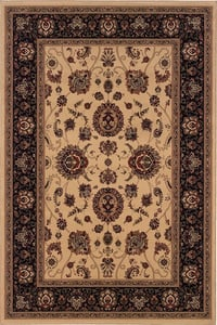 Ivory, Black (130-7) Ariana 130 Traditional / Oriental Area Rugs