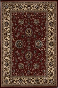 Red, Ivory (130-8) Ariana 130 Traditional / Oriental Area Rugs