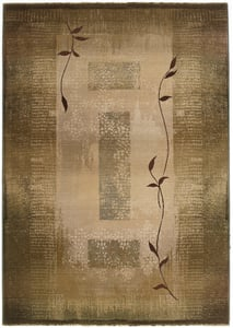 Green, Beige (544G1) Generations 544 Contemporary / Modern Area Rugs