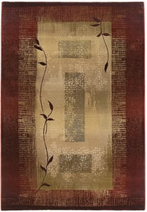 Red, Beige (544X1) Generations 544 Contemporary / Modern Area Rugs