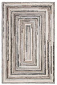 Grey (18143) Hand Tufted Concentric Contemporary / Modern Area Rugs