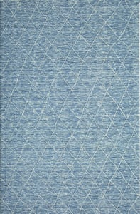 Dark Blue, Light Blue, Ivory Kenza 10857 Bohemian Area Rugs
