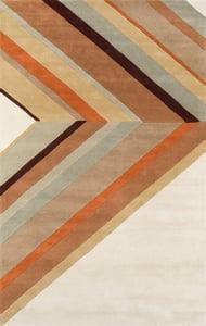 Brown (DEL-5) Delmar Ultralight Contemporary / Modern Area Rugs