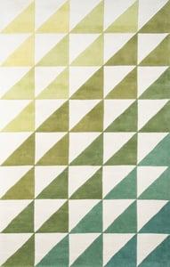 Lime (DEL-6) Delmar Agatha Side Triangle Contemporary / Modern Area Rugs