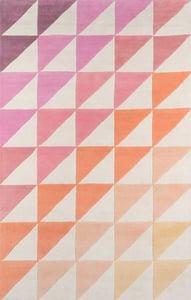 Pink (DEL-6) Delmar Agatha Side Triangle Contemporary / Modern Area Rugs