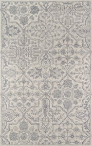 Grey Cosette COS-1 Traditional / Oriental Area Rugs