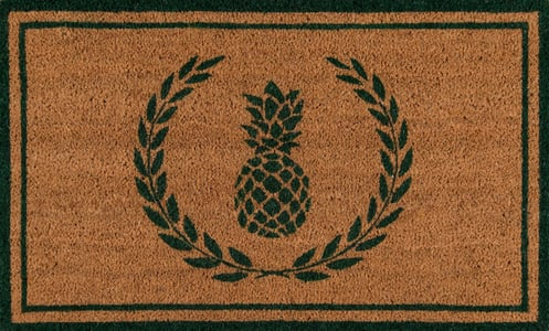 Green (PAR-01) Erin Gates - Park Mats Pineapple Novelty / Seasonal Area Rugs