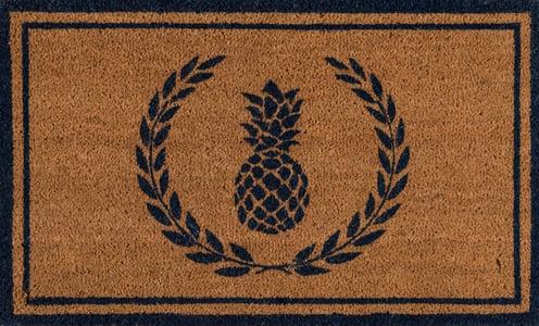 Navy (PAR-01) Erin Gates - Park Mats Pineapple Novelty / Seasonal Area Rugs