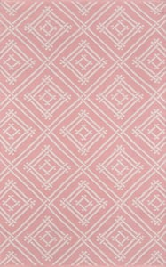 Pink, Ivory Palm Beach Everglades Club Contemporary / Modern Area Rugs