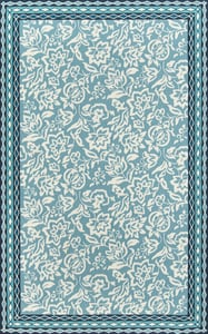 Blue, Ivory Under A Loggia Rokeby Road Floral / Botanical Area Rugs